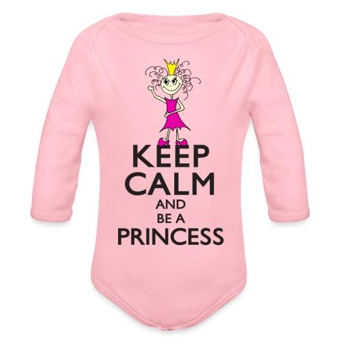 Keep calm an be a princess - Baby Bio-Langarm-Body