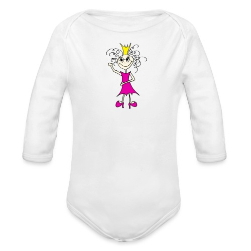 Keep calm an be a princess - Baby Bio-Langarm-Body
