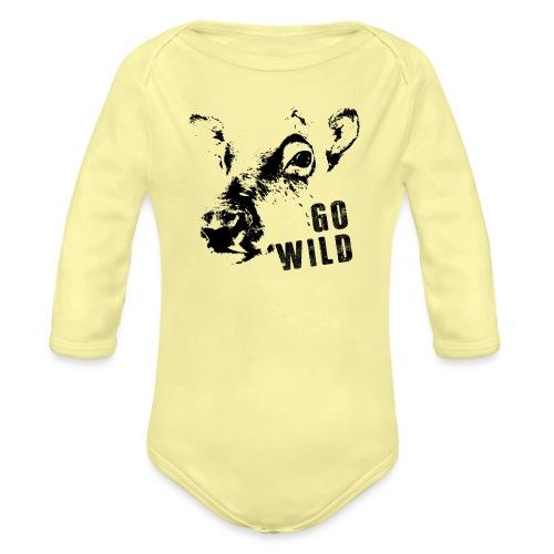 Go Wild - Baby Bio-Langarm-Body