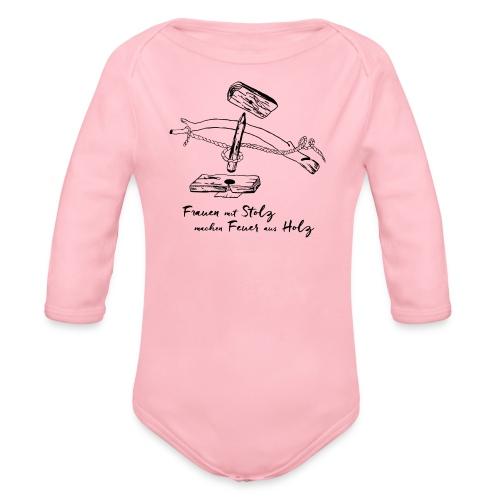 1er BowDrill - Feuerbohrset_FmS - Baby Bio-Langarm-Body