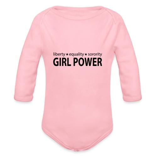 18 - Girl Power 006 - Langærmet babybody, økologisk bomuld