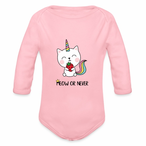Meow or never - Baby Bio-Langarm-Body
