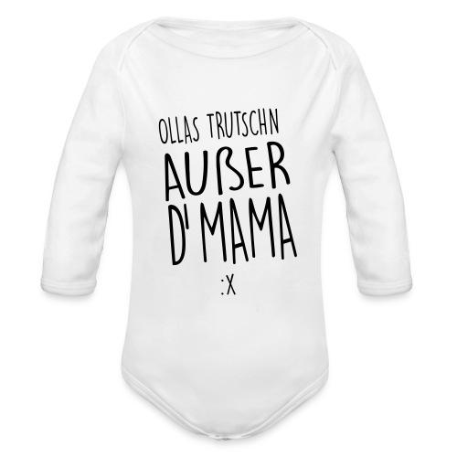 Vorschau: Ollas Trudschn außer d'Mama - Baby Bio-Langarm-Body