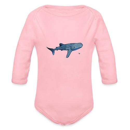 Whale shark - Organic Longsleeve Baby Bodysuit