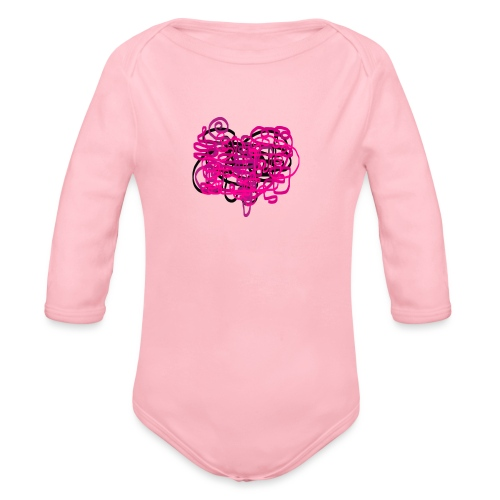 delicious pink - Organic Longsleeve Baby Bodysuit
