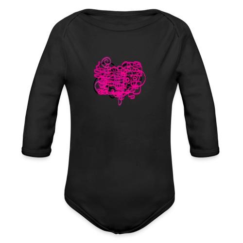delicious pink - Organic Longsleeve Baby Bodysuit