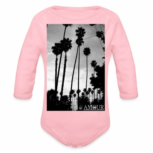 Amour Palms Logo - Organic Longsleeve Baby Bodysuit