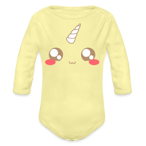 Kawaii_T-unicorn_EnChanta - Organic Longsleeve Baby Bodysuit