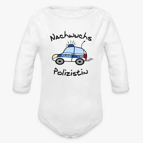 nachwuchs polizistin - Baby Bio-Langarm-Body