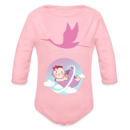 Umstandsmode T-Shirt Motiv / Geschenk Babyparty - Baby Bio-Langarm-Body