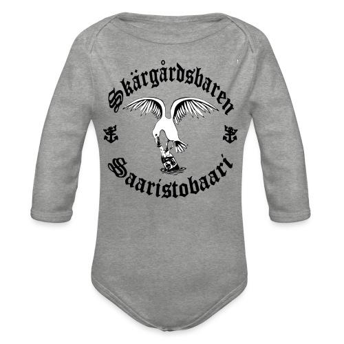 Black n white logo - Vauvan pitkähihainen luomu-body