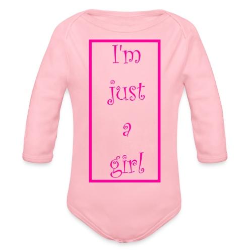 I' m just a girl #1 - Baby Bio-Langarm-Body