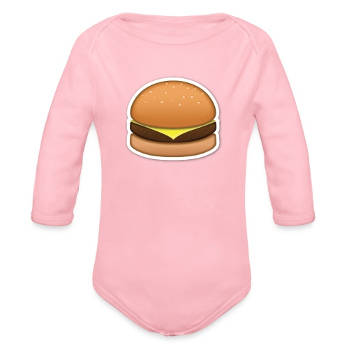 hamburger_emoji - Baby bio-rompertje met lange mouwen