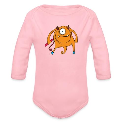 A TAD SURPRISING (monster #3) - Organic Longsleeve Baby Bodysuit