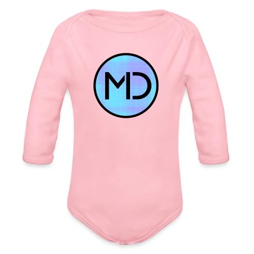 MD Blue Fibre Trans - Organic Longsleeve Baby Bodysuit