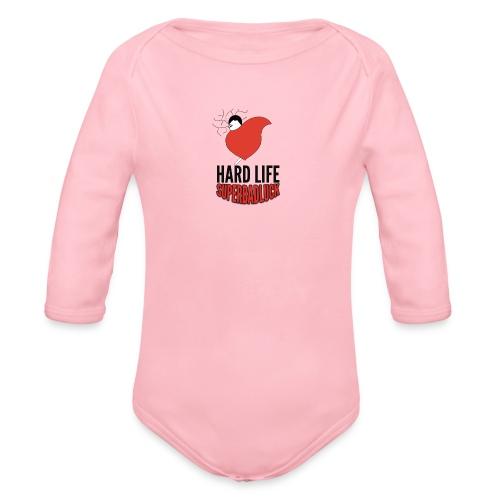 HARDLIFE superbadluck - Body ecologico per neonato a manica lunga