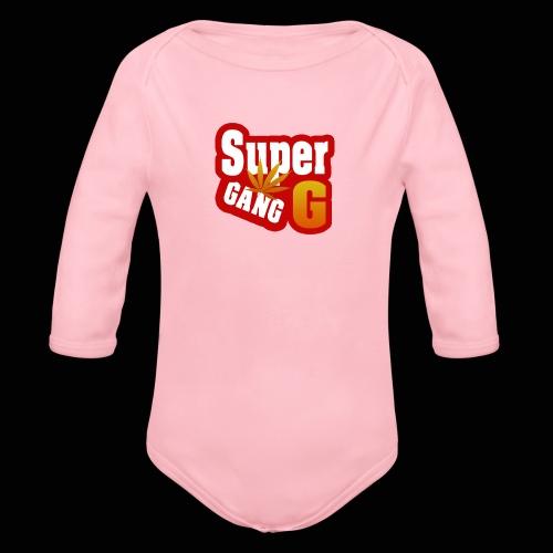 SuperG-Gang - Langærmet babybody, økologisk bomuld
