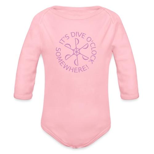 diveoclocklogodlpink png - Organic Longsleeve Baby Bodysuit