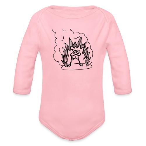 Whos A Chicken? - Organic Longsleeve Baby Bodysuit