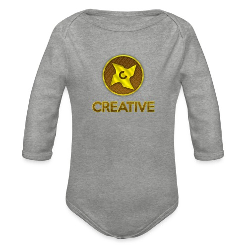 Creative logo shirt - Langærmet babybody, økologisk bomuld