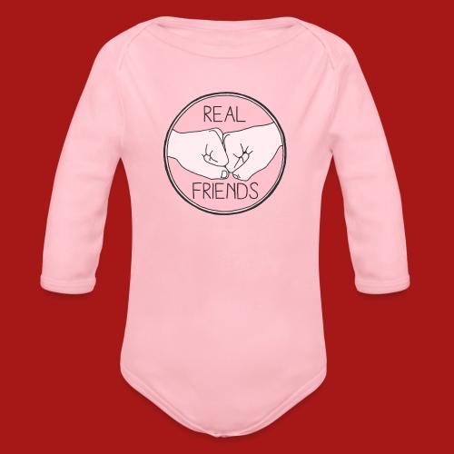 Real Friends - Langærmet babybody, økologisk bomuld