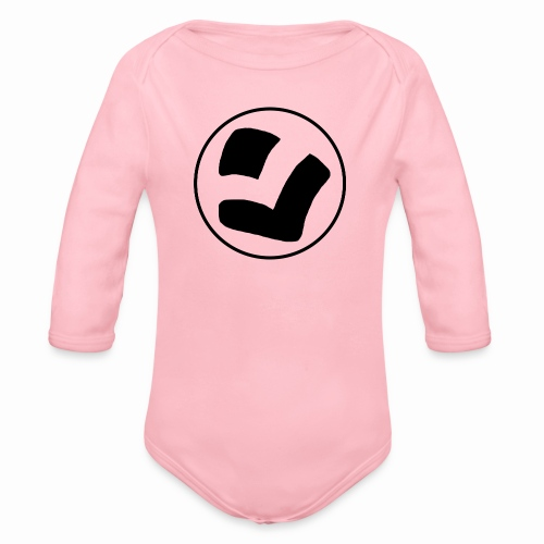 LaidPark Black Logo - Vauvan pitkähihainen luomu-body