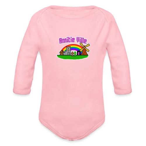 Amitie Ville Logo Shirt - Organic Longsleeve Baby Bodysuit