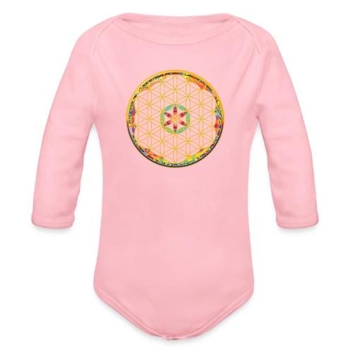 flower of life - Organic Longsleeve Baby Bodysuit