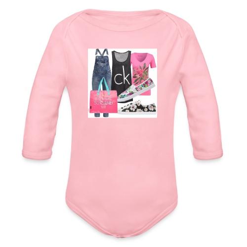 outfit pace e amoreio amo il colore - Body ecologico per neonato a manica lunga