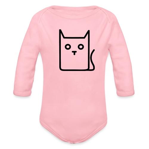 Katze Schwarz - Baby Bio-Langarm-Body