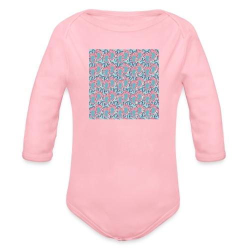 kidfootprint a5 - Organic Longsleeve Baby Bodysuit
