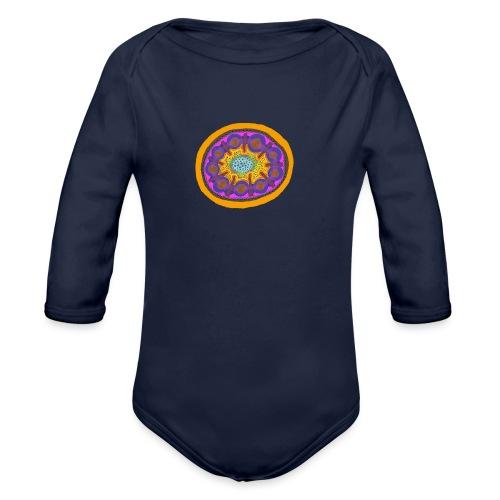 Mandala Pizza - Organic Longsleeve Baby Bodysuit