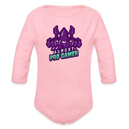 Almost pro gamer PURPLE - Body ecologico per neonato a manica lunga