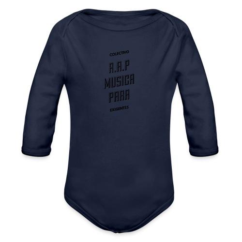 SOLO PARA AMANTES DEL RAP// Colectivo R.A.P - Body orgánico de manga larga para bebé