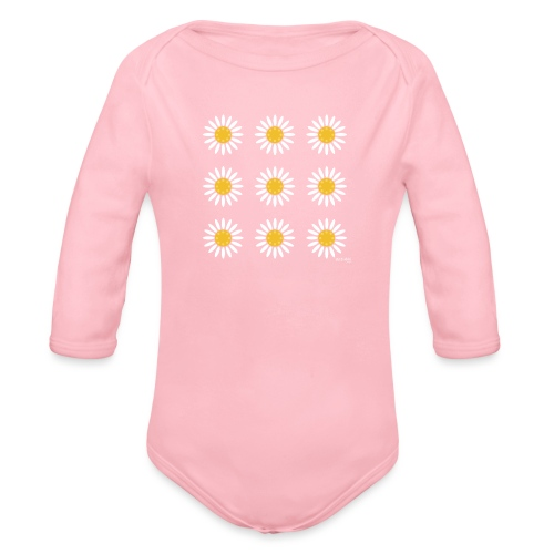 Just daisies - Vauvan pitkähihainen luomu-body