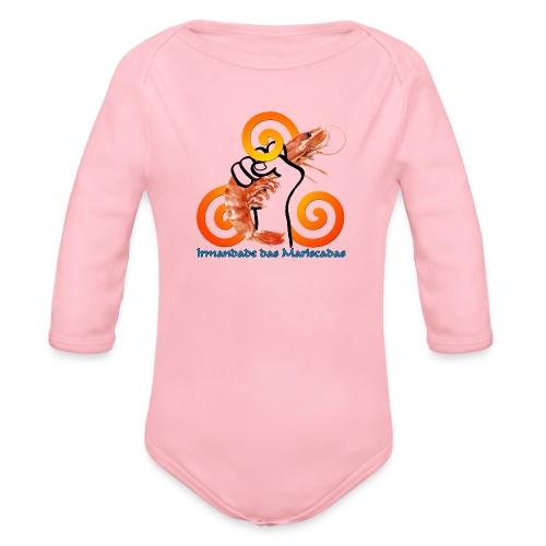 Irmandade das Mariscadas - Body orgánico de manga larga para bebé