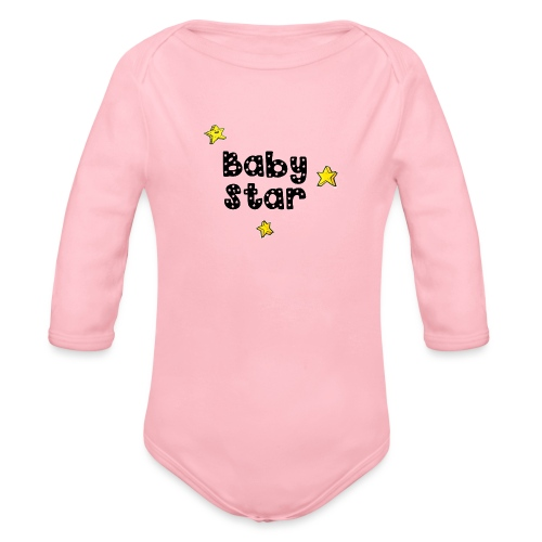 magicstars clip - Organic Longsleeve Baby Bodysuit