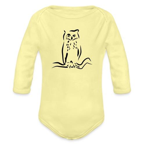 Gufo - Body ecologico per neonato a manica lunga