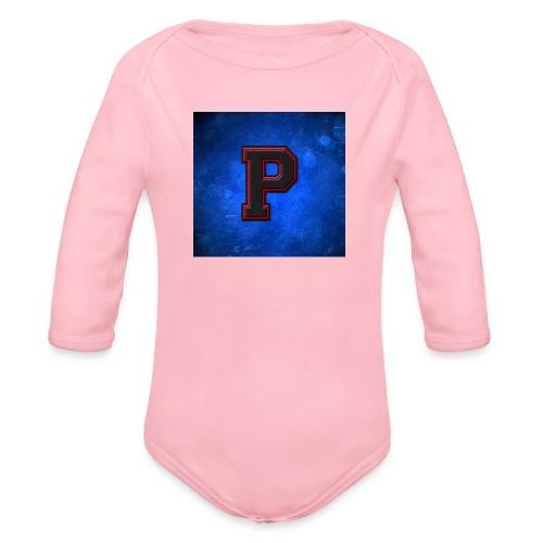 ProspiloTV LOgo - Organic Longsleeve Baby Bodysuit