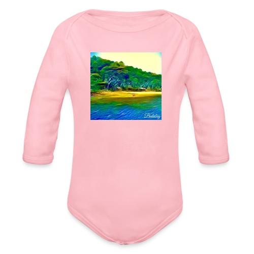 Tropical beach - Body ecologico per neonato a manica lunga