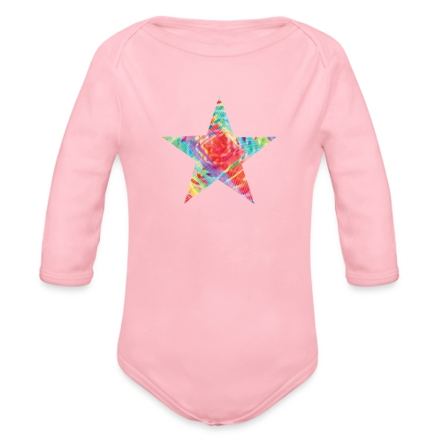 Color star of david - Organic Longsleeve Baby Bodysuit