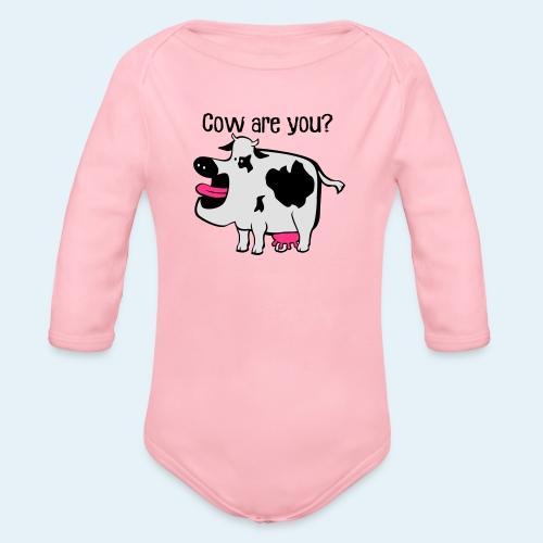Cow are you? - Body orgánico de manga larga para bebé