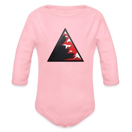 Climb high as a mountains to achieve high - Organic Longsleeve Baby Bodysuit