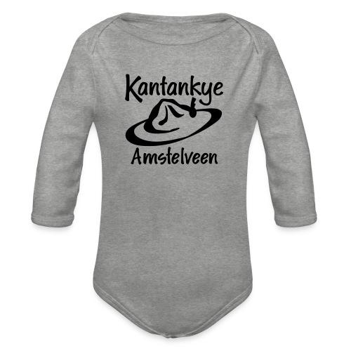logo naam hoed amstelveen - Baby bio-rompertje met lange mouwen