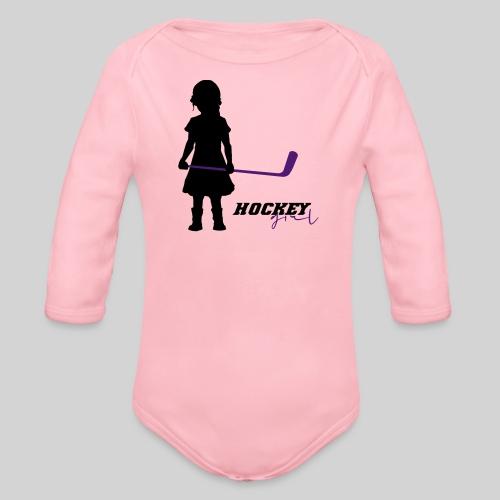 Hockey Girl I - Baby Bio-Langarm-Body