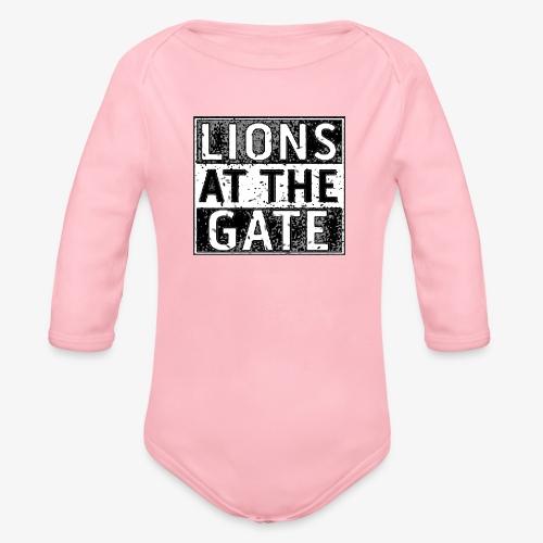 LIONS AT THE GATE BAND LOGO - Baby bio-rompertje met lange mouwen