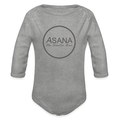 Centro ASANA . Me siento bien! - Body orgánico de manga larga para bebé