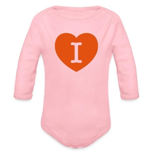 I - LOVE Heart - Organic Longsleeve Baby Bodysuit