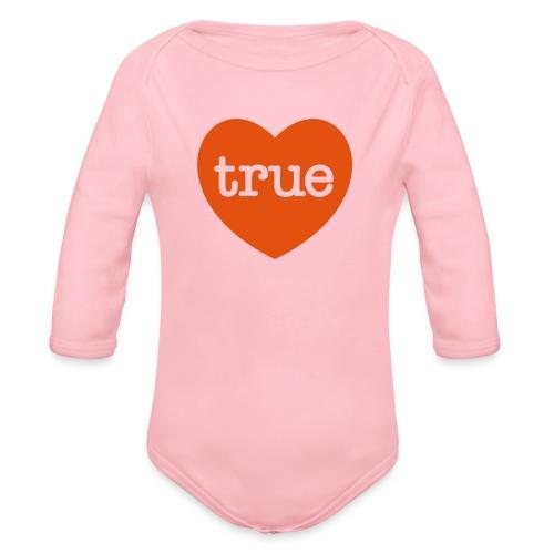 TRUE LOVE Heart - Organic Longsleeve Baby Bodysuit