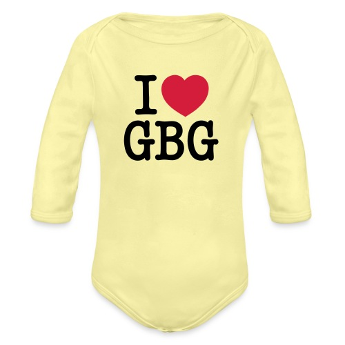 I love GBG - Ekologisk långärmad babybody